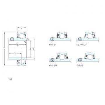 Bantalan YAR207-107-2RF/VE495 SKF